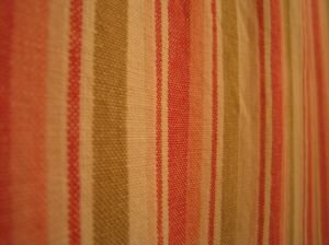 funky striped natural fabric shower curtain