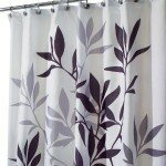 InterDesign Leaves Fabric Shower Curtain, Gray (Click Image for Details)