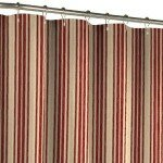 Maytex Sorrento Stripe Fabric Shower Curtain, Burgundy (Click Image for Details)