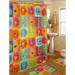 Crazy Daisy Retro Shower Curtain and Bathroom Rug Set (Click Image for Details)